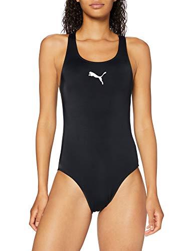 PUMA Women's Damen Badeanzug Racerback, Schwarz, M