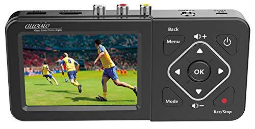 auvisio VHS digitalisieren: Video-Rekorder mit Analog-Eingängen, Farb-Display, USB, SD, 60 B./Sek. (Video Digitalisierer)