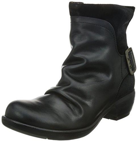 FLY London Mel P141633, Damen Biker Boots, Schwarz (BLACK 003), 39 EU (6 UK)