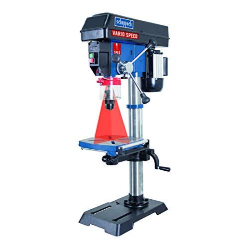 Scheppach Profi Säulenbohrmaschine DP18Vario (550 W, Gusseisen-Konstruktion, stufenlose Drehzahlregulierung, Bohrfutter 16mm, Laser, LED, inkl. Tischverbreiterung)