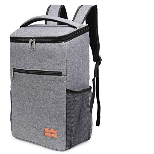 NASUM Kühltasche Picknicktasche Thermotasche Lunch Tasche isolierte Kühlbox Lebensmitteltransport für Büro Arbeit Outdoor Camping Reisen, Eistasche klappbar faltbar 31 * 21.5 * 37cm, 25L