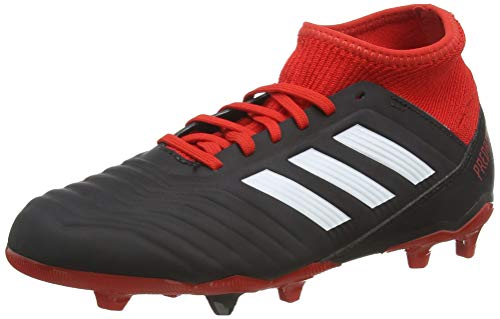 adidas Unisex-Kinder Predator 18.3 FG Fußballschuhe, Schwarz (Negbás/Ftwbla/Rojo 001), 35 EU
