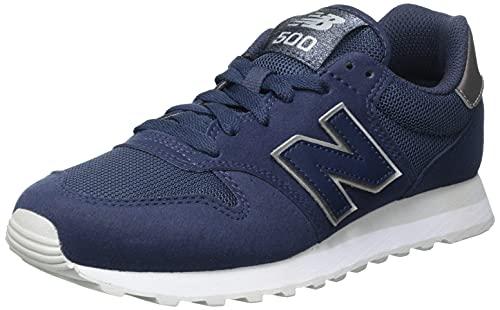 New Balance Damen 500 Core Metallic Pack Sneaker, Nb Navy, 24 EU