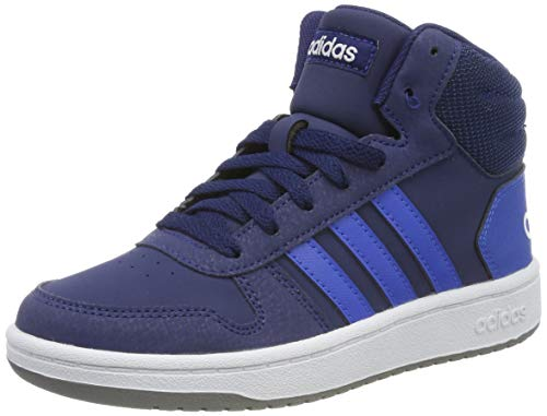 adidas Unisex-Kinder Hoops 2.0 Mid Hohe Sneaker, Blau (Dark Blue/Blue/Footwear White 0), 39 1/3 EU