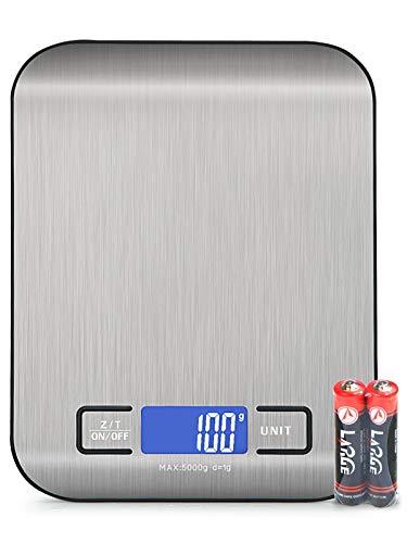 BENEFAST 1g bis 5kg Küchenwaage,Digitalwaage mit LCD-Display, Hochpräzise Professionelle Electronische Waage(5kg Maximalgewicht)