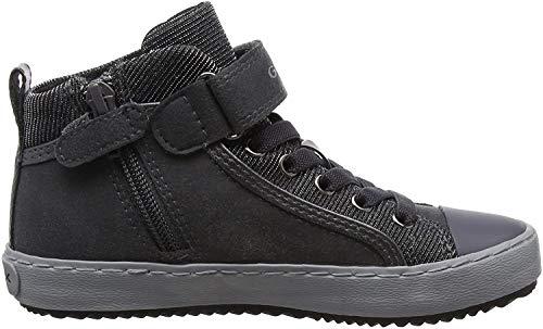 Geox Mädchen J Kalispera Girl I Hohe Sneaker, Grau (Dk Grey), 30 EU