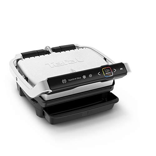 Tefal GC750D OptiGrill Elite Kontaktgrill, digitales Display mit Schritt-für-Schritt Anleitungen und Countdown, 12 Grillprogramme, 30 cm x 20 cm + verstellbarer manueller Modus