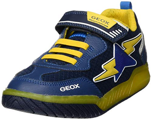 Geox Jungen J INEK Boy B Sneaker, Blau (Navy/Yellow C0657), 30 EU