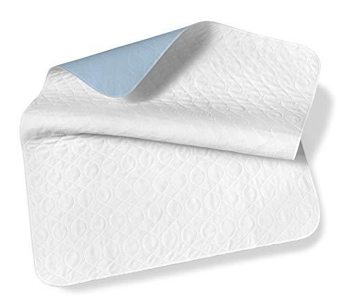 SETEX Wasserdichte Saugvlies Matratzenauflagen, Doppelpack, Je 75 x 90 cm, Generation, Weiß, MWU2075090031008