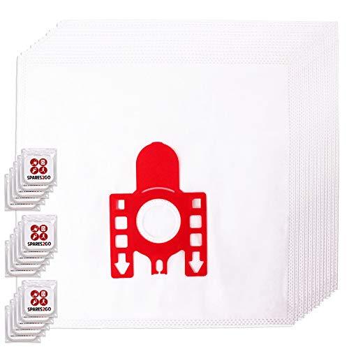Spares2go FJM Hyclean Staubsaugerbeutel, kompatibel mit Miele S200-299 S241 256i S290 Staubsauger (Packung mit 12 Beuteln + Lufterfrischer-Tabs)