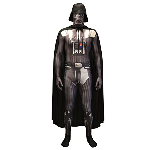 Offiziell Darth Vader Digital Morphsuit Verkleidung, Kostüm - Medium - 5'-5'4 (150cm-162cm)