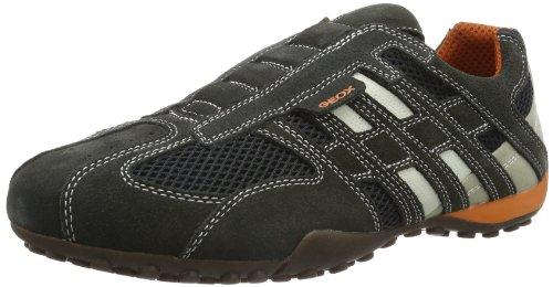Geox UOMO SNAKE L Herren Sneakers, Grau (DK GREY/OFF WHITEC1300), 39