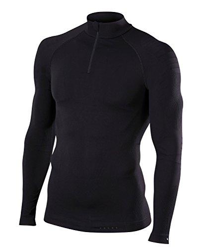 FALKE Herren, Langarmshirt Warm Close Fit Funktionsfaser, 1 er Pack, Schwarz (Black 3000), Größe: XL