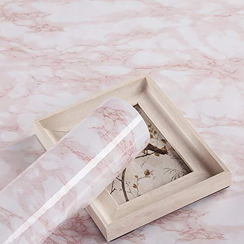 Möbelfolie Selbstklebend Rosa Marmor 45cmX3m Klebefolie Möbel Wasserdicht Tapeten Dekofolie Vinylfolie Küchenfolie Möbelsticker Aufkleber Wand Schlafzimmer Schränke Küchenschrank
