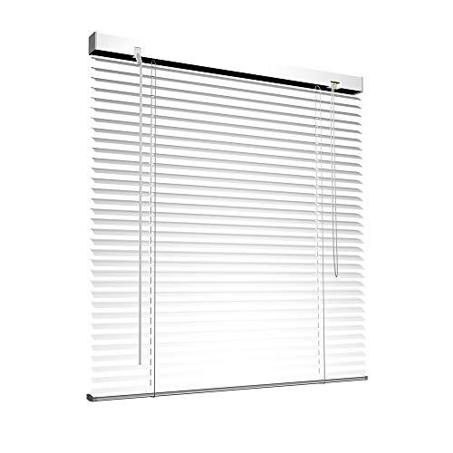 Victoria M. Aluminium Jalousie, 90 x 130 cm, weiß, Jalousie ohne Bohren, inkl. Klemmclips