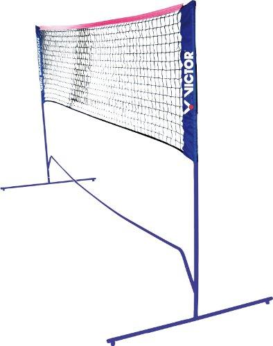 VICTOR Mini Badminton Netz -höhenverstellbar mit Tragetasche- für Federball, Tennis, Volleyball und Fußball-Tennis, 859/1/0