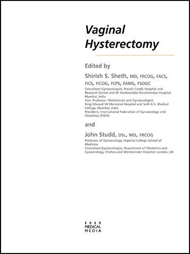 Vaginal Hysterectomy (English Edition)