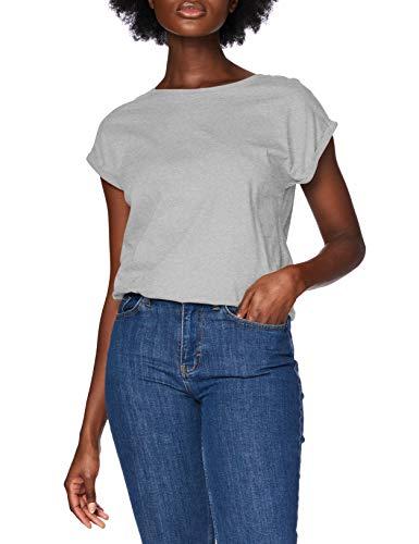 Urban Classics Damen Ladies Extended Shoulder Tee T-Shirt, grey, M