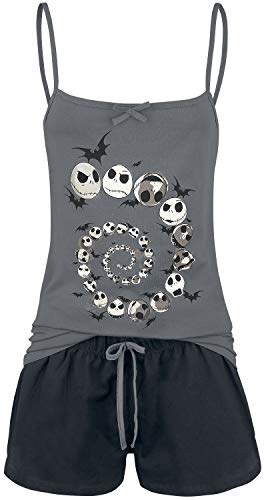The Nightmare Before Christmas Jack Skellington - Curse Frauen Schlafanzug grau/schwarz XL