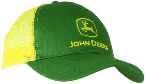 John Deere NCAA Herren Logo Kontrast Mesh Back Core Baseball Cap - Gelb - Einheitsgröße