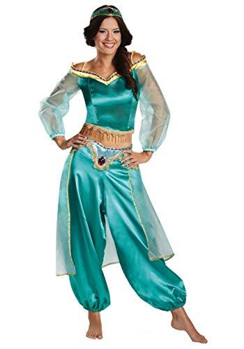 Disney Damen Disguise Women's Aladdin Jasmine Sassy Prestige Costume Kostüme, grün, Large (12-14) US