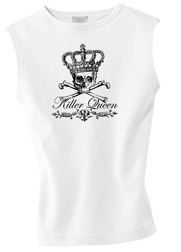 Killer Queen - Black Crown Logo Girlie-Shirt