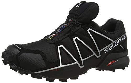 Salomon Herren Trail Running Schuhe, SPEEDCROSS 4 GTX, Farbe: schwarz (Black/Black/Silver Metallic-X) Größe: EU 40 2/3