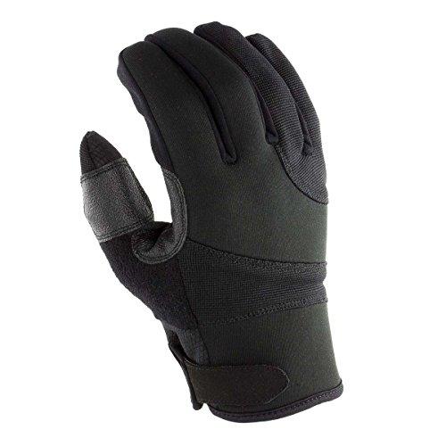 OBRAMO Einsatzhandschuhe Allround Schnittschutzhandschuhe Polizei Security Handschuhe schnittfest Sicherheitshandschuhe tactical Größe L