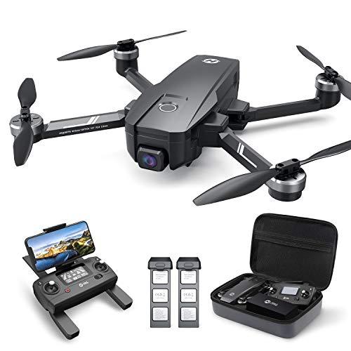 Holy Stone HS720E GPS Drohne mit 4K EIS UHD Kamera,Quadrocopter ferngesteuert mit 2 Akkus Lange Flugzeit,Follow Me,5G WiFi Übertragung,Return Home,Bürstenloser Motor,Anti-Shake cam für Anfänger