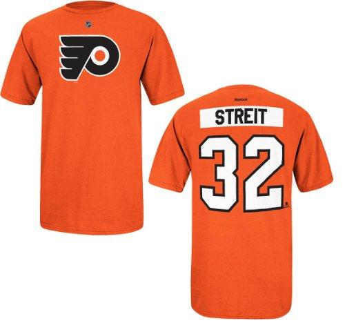 Reebok NHL T-Shirt Philadelphia Flyers Mark Streit #32 orange Player Eishockey (M)