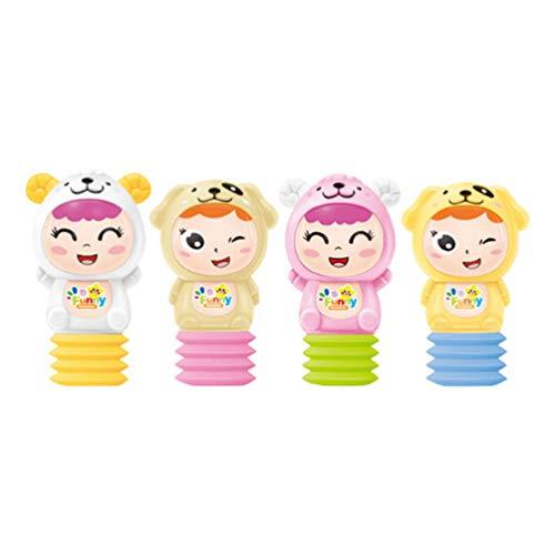 STOBOK Kinder Maracas Shakers Tragbare Handschüttler Frühe Lernspielzeug Sandhämmer Musikspielzeug für Kinder Kinder Baby (Ohne Batterie)
