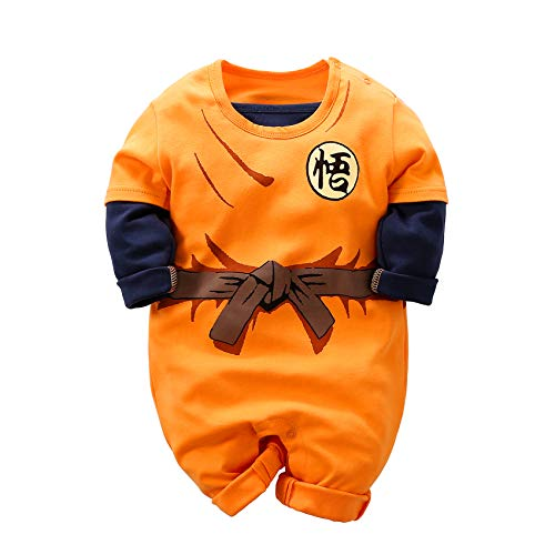 Baby Strampler Goku Overall Langarm Cartoon Rolle die Baby Kleidung Spielt