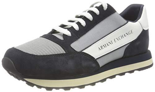 Armani Exchange Herren Osaka Sneaker, Grey, 39 EU
