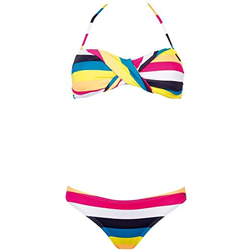 Chiemsee Damen Bikini / Badeanzug Ebony, Stripe Cabaret, XL, 1080704
