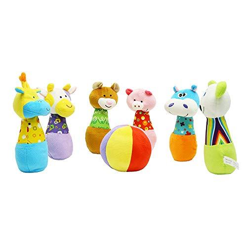 Lernspielzeug Bowling Bowling-Spiel Bowling-Spiel 6 Flaschen Baumwolle Tragetasche Freunde Im Kindergarten Spiel Innen- Und Außen Garten Sport- Und Spielplatz Spielzeug Eltern-Kind-Spielzeug