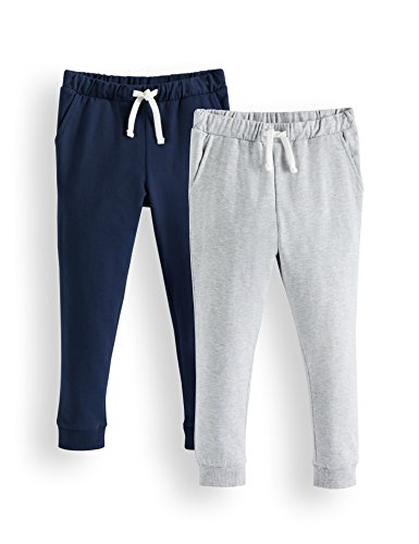 Amazon-Marke: RED WAGON Jungen Hose Jogger 2er pack, Mehrfarbig (Navy/Grey), 134, Label:9 Years
