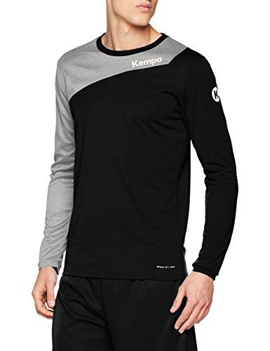 Kempa Erwachsene CORE 2.0 Langarmshirt Bekleidung Teamsport, schwarz/Dark grau Melange, M