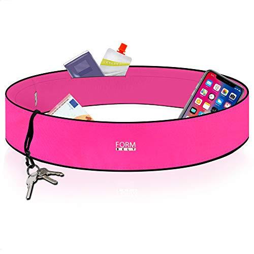 Formbelt® Laufgürtel für Handy Smartphone iPhone 8 X XS XR 11 6-s 7+ Plus Samsung Galaxy S7 S8 S9 S10 Edge Hüfttasche für Sport Fitness Laufen Bauchtasche zum Laufen (pink, XL)