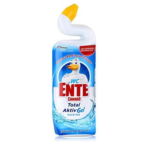 WC-Ente Total Aktiv Gel, Flüssiger WC-Reiniger, Toilettenreiniger, Marine (frischer Duft, marineblau), 750 ml