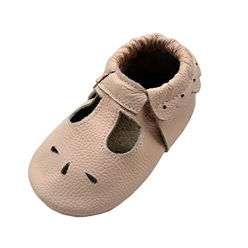 iEvolve Baby Mädchen Jungen Elefant Babyschuhe Baby Weiche Sohle Lederschuhe Baby Lauflernschuhe Krabbelschuhe(Hellrosa Sandale,12-18 Monate)