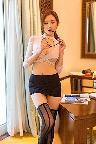 DXWFEMALE Cosplay Reizvolle Wäsche-Frauen-Heiße Exotische Unterwäsche Sexy Outfit Lehrer Secretary Uniform Versuchung Rolle Sex Kleidung Set Spielen
