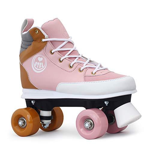 BTFL Rollschuhe Rosa Girlie für Mädchen,Retro-Rollschuhe,Dance-Roller,Rollerskates,rosa,EU 36