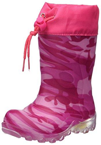 Beck Mädchen Camouflage Schneestiefel, Pink (Pink 06), 29 EU