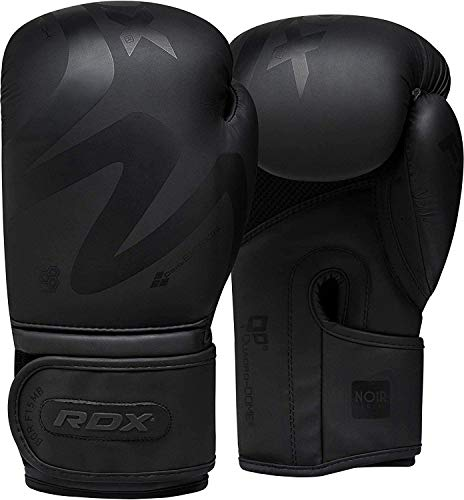 RDX Boxhandschuhe für Muay Thai und Training Convex Skin Leder Punchinghandschuhe für Sparring, Kickboxen, Kampfsport, Boxsack Punching, Fitness, Sandsack Boxing Gloves (MEHRWEG)
