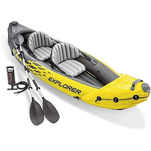 YKHOME K2 Schlauchboot - Aufblasbares Kajak -Schlauchboot mit Pumpe & Paddeln, für 2 Personen312*91 * 51CM