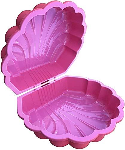 TikTakToo Sand & und Wassermuschel I Sandkasten mit Abdeckung (2-teilig) I (pink)