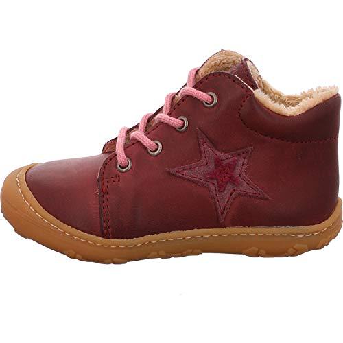 RICOSTA Kinder Lauflern Schuhe ROMMI von Pepino, Weite: Mittel (WMS), schnürschuh schnürstiefelchen flexibel leicht Kinder,Fuchsia,23 EU / 6 Child UK