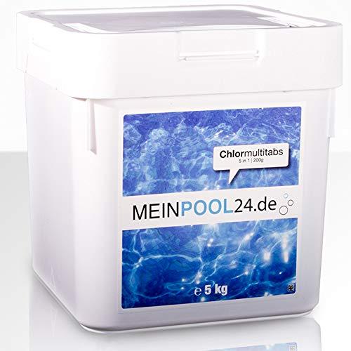MEINPOOL24.DE 5 kg CHLORMULTITABS CHLOR MULTITABS 5 IN 1, 200 g TABS POOLCHEMIE innerhalb Deutschlands (außer Inseln)