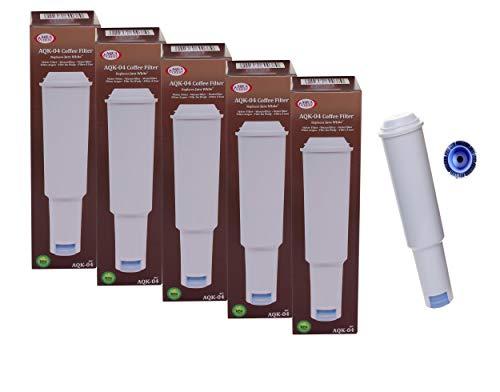 AQUA CREST 5 x Jura White kompatible mit Filterpatrone für Jura Impressa
