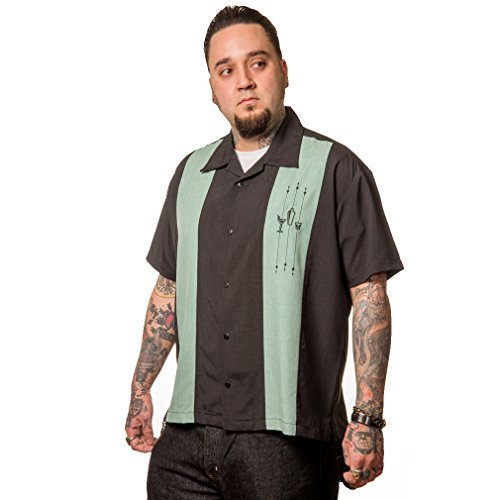 Steady Clothing Vintage Bowling Hemd - The Shake Down Retro Bowling Shirt (M)